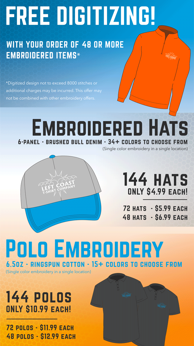 Embroidered Hat Special
