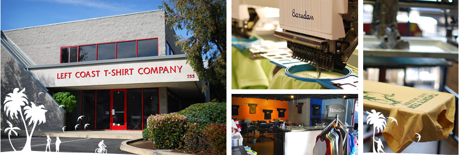 Left Coast T-Shirt Co, San Luis Obispo, Screenprinting, Embroidery